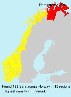 Familiennamen Sara - Norway