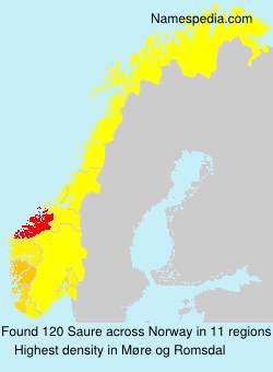 Surname Saure in Norway