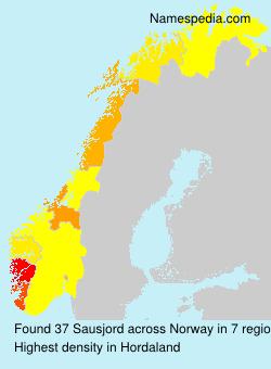Familiennamen Sausjord - Norway
