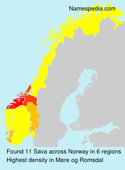 Surname Sava in Norway