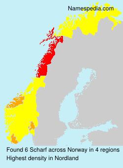 Familiennamen Scharf - Norway