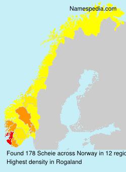 Familiennamen Scheie - Norway