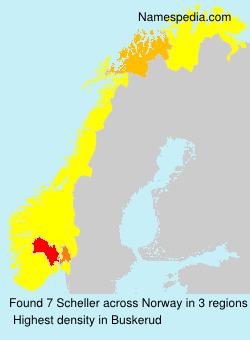 Surname Scheller in Norway