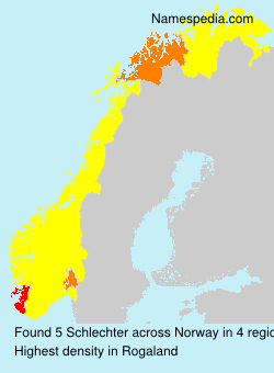 Surname Schlechter in Norway