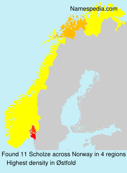 Surname Scholze in Norway
