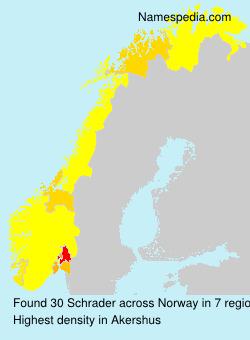 Familiennamen Schrader - Norway