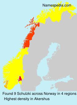 Surname Schulzki in Norway