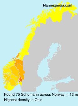 Familiennamen Schumann - Norway