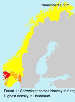 Surname Schweitzer in Norway
