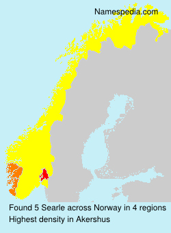 Surname Searle in Norway