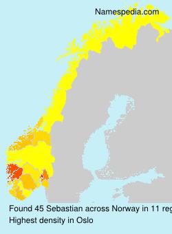 Familiennamen Sebastian - Norway