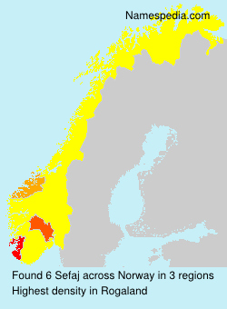 Surname Sefaj in Norway