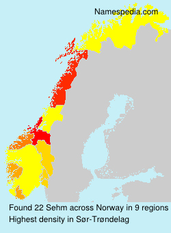 Surname Sehm in Norway