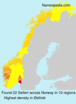 Surname Seifert in Norway