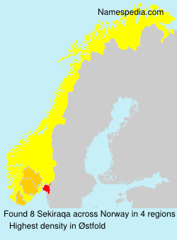 Surname Sekiraqa in Norway