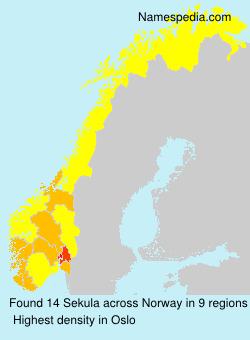 Surname Sekula in Norway
