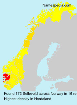 Surname Sellevold in Norway