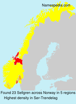Surname Sellgren in Norway