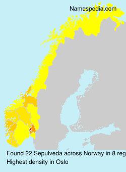 Surname Sepulveda in Norway