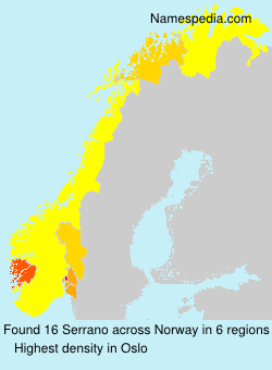 Surname Serrano in Norway