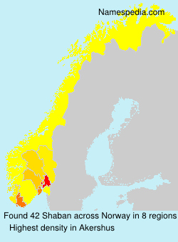 Surname Shaban in Norway