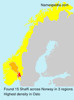 Surname Shaffi in Norway