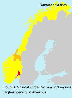 Surname Shamal in Norway