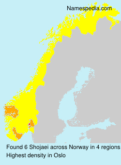 Surname Shojaei in Norway