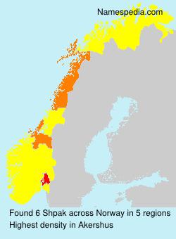 Surname Shpak in Norway