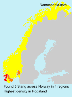 Surname Siang in Norway