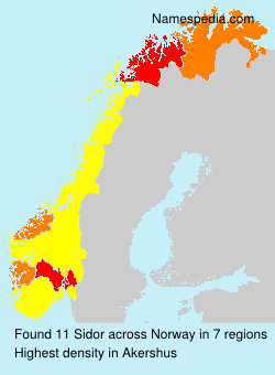 Surname Sidor in Norway