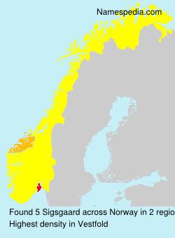 Surname Sigsgaard in Norway