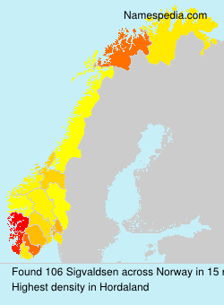 Surname Sigvaldsen in Norway