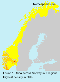 Surname Sina in Norway