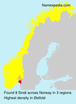 Surname Sindi in Norway