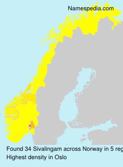 Surname Sivalingam in Norway