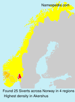 Surname Siverts in Norway