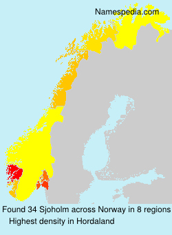 Surname Sjoholm in Norway