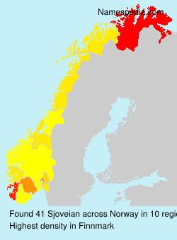 Surname Sjoveian in Norway