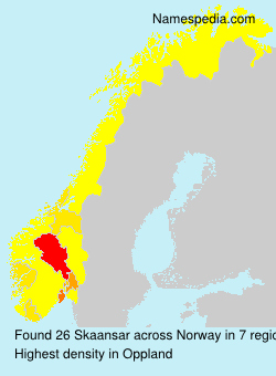 Surname Skaansar in Norway