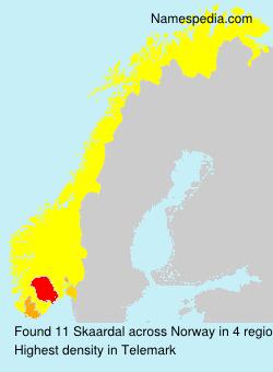 Surname Skaardal in Norway