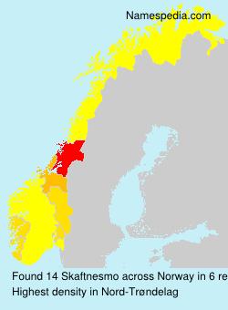 Surname Skaftnesmo in Norway