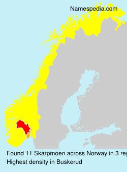 Surname Skarpmoen in Norway