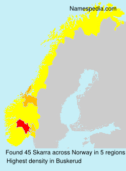 Surname Skarra in Norway