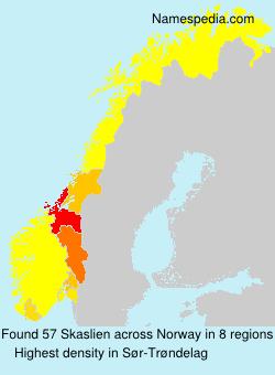 Surname Skaslien in Norway