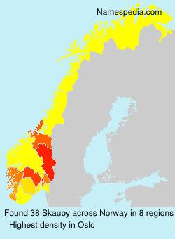 Surname Skauby in Norway