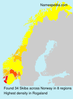 Surname Skiba in Norway