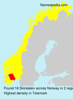 Surname Skindalen in Norway