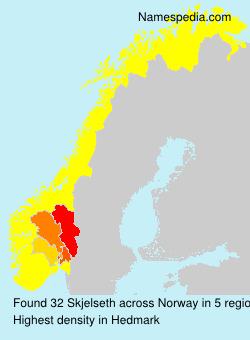 Surname Skjelseth in Norway