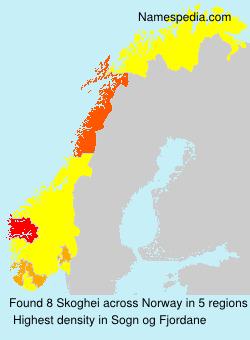 Surname Skoghei in Norway